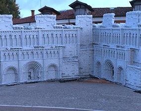 Fantasy architecture courtyard 3D model