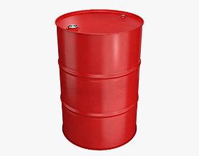 3D Metal barrel red