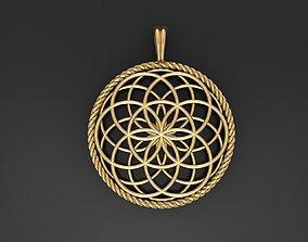 3D printable model Seed Of Life Pendant