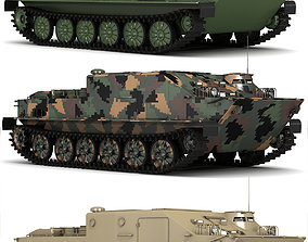 animated BTR-50 3D Model Collection