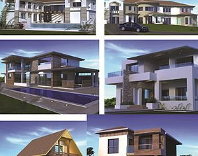 houses collection 3D model