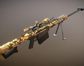 3D model Sniper Riffle Barrett M82