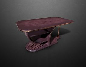 Art-deco table 3D asset