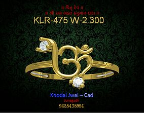 3D model game-ready gold ladies ring
