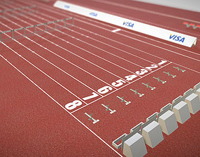 3D asset Athletics Track