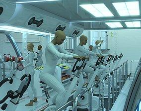 3D model SC20 Gym Expansion Pack