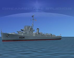 3D model UK Captains Class Frigate HMAV Lawford