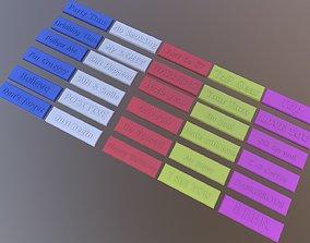 30 labels 3D print model