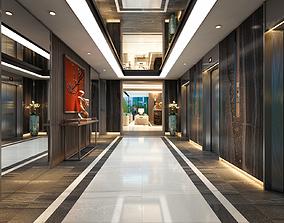 entranceway Hotel Lobby 3D model