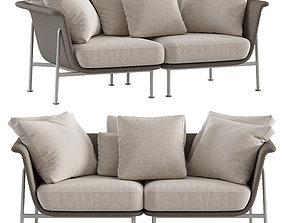 furniture 3D model 2-seat sofa Janus et cie
