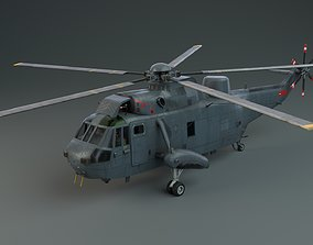 Lowpoly Helicopter - Westland Sea King HAS5 animated 2