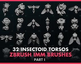 Alien Insectoid Torsos - 32 IMM Brush - Part I 3D