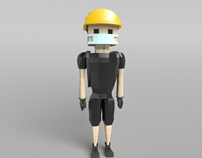 Low Poly Protestor 3D model