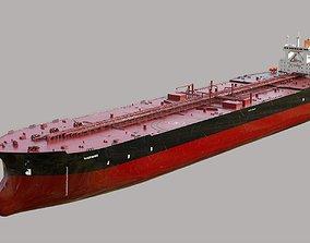 Oil tanker TI Class 3D asset low-poly