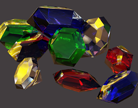 Gems and Crystals 3D asset