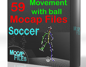 3D model 10-Soccer football Mocap animations - Movement 3