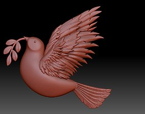 Pigeon 3D print model feather