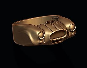 3D printable model car ring 10 oldtimer