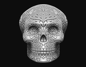 Floral Skull Pendant 3D printable model