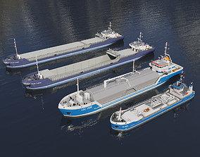 Set Damen Ships 3D asset