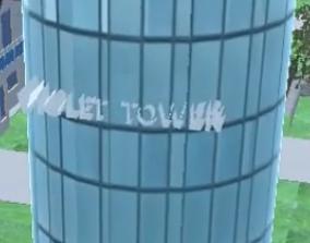 Violet Tower V1 002 3D model