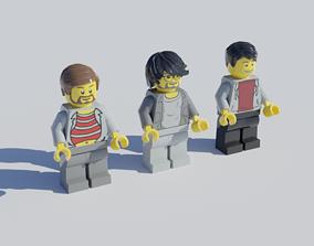Lego minifigures 3D model toy
