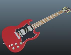 SG guitar Low poly 3D model