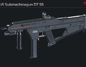 Scifi Submachinegun DT 55 3D model