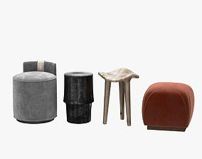 3D poufs and stool