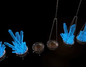 3D model Set of Fire bowls and Crystal Lanterns