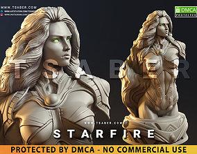 StarFire Bust - DC Teen Titans 3D printable model 1