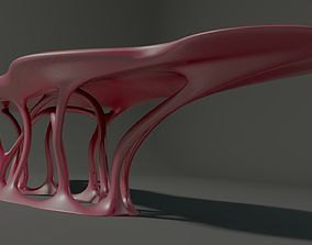 3D asset Curved table