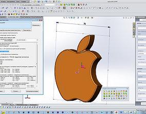 apple emblem iphone 3D print model