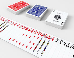 3D model Playing Cards BICYCLE - Poker Card Set 1 - single