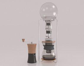 Coffee maker and grinder 3D model