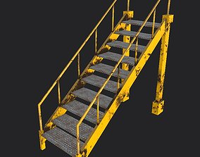 3D asset Industrial stairs