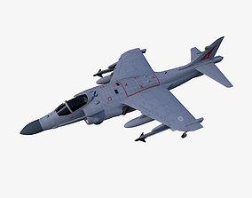 3D asset low-poly Sea Harrier FA2