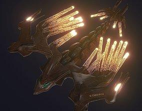 Sci-FI Steel Phoenix PBR 3D asset