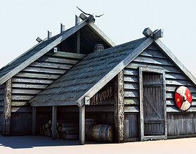 3D asset Viking House 2