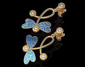 3D printable model Earrings dragonfly