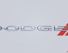 3D model Dodge Logo