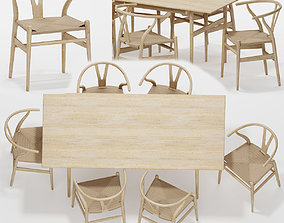 Table Chair Set 05 3D