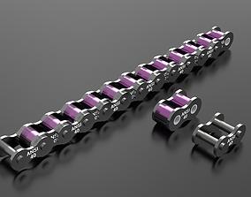 40 standard roller chain - Ansi 3D print model other