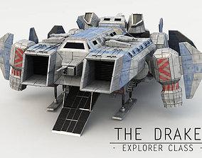 3D asset Explorer Class Space ship