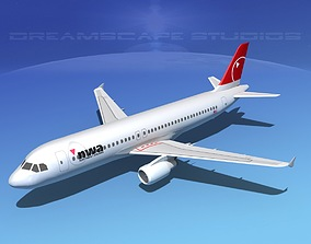 3D model Airbus A320 LP NWA