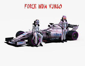 Force India VJM10 3D asset