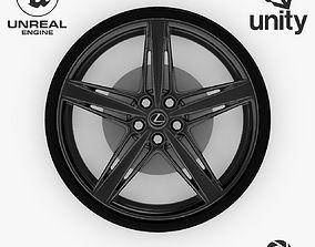 3D asset Wheel Steel-Chrome Dark Alloy Rim Lexus 19 inch 1