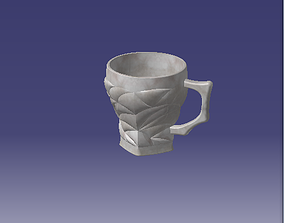 3D printable model bamboo cup for printing