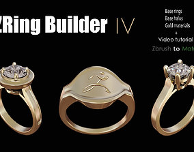 Zbrush jewelry Ring builder 4 3D print model