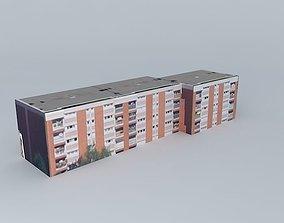 3D model Building located Rouen France